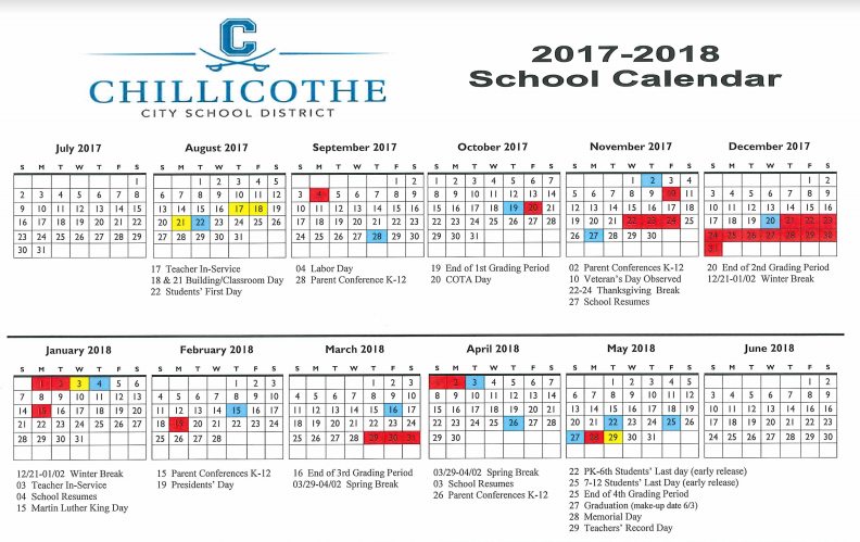 Ccsd Boe Changed The Elementary Calendar Chillicothe City Schools