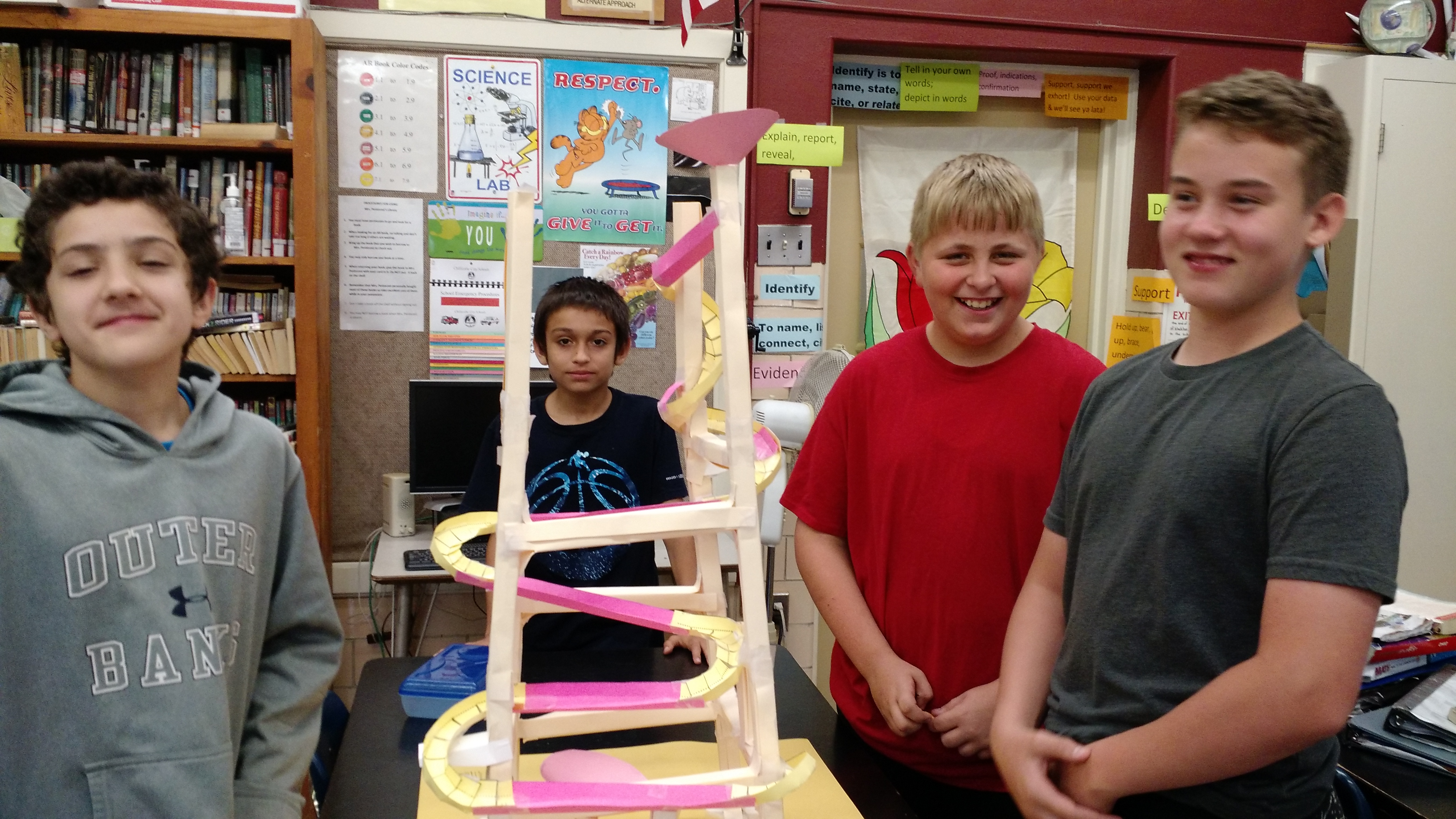 Tiffin students pose with their projects