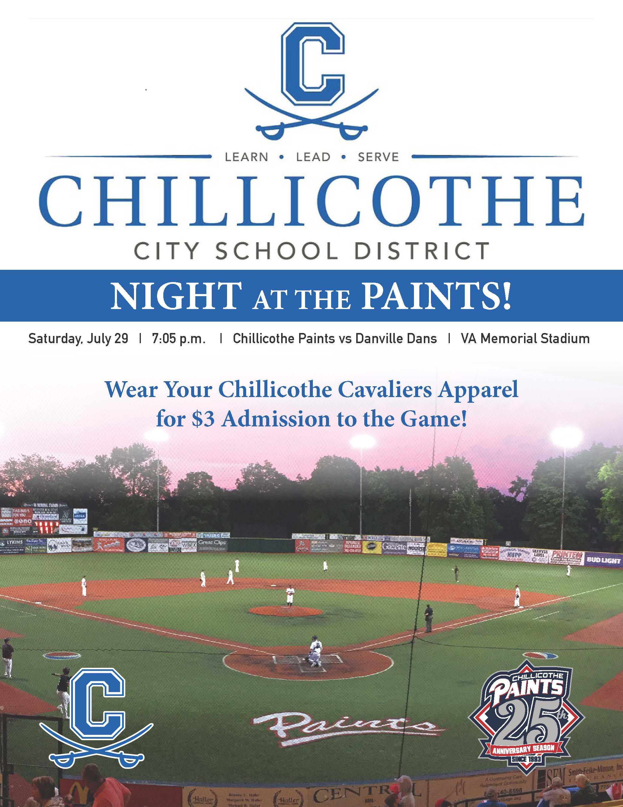 CCSD Night at the Paints