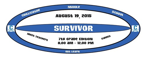 Chillicothe Middle School - Survivor: 7th Grade Edition. August 19, 2015.