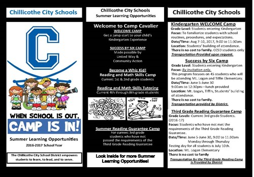 CCSD is offiering Summer Enrichment Opportunities