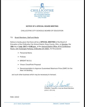 CCSD BOE Special Meeting July 10 2017