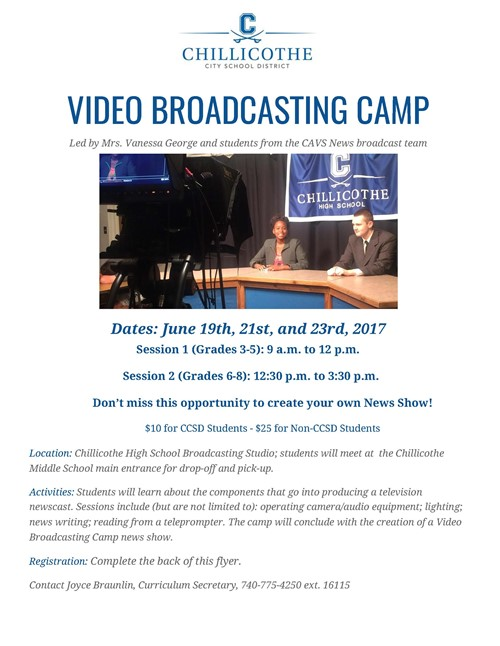 Video Broadcasting Camp